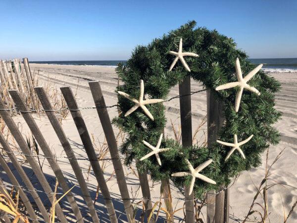 Christmas wreath in Myrtle Beach